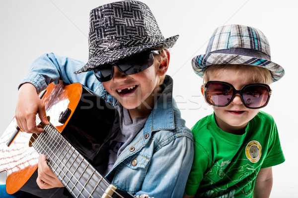 new kids on the block playing loud rock Stock photo © Giulio_Fornasar