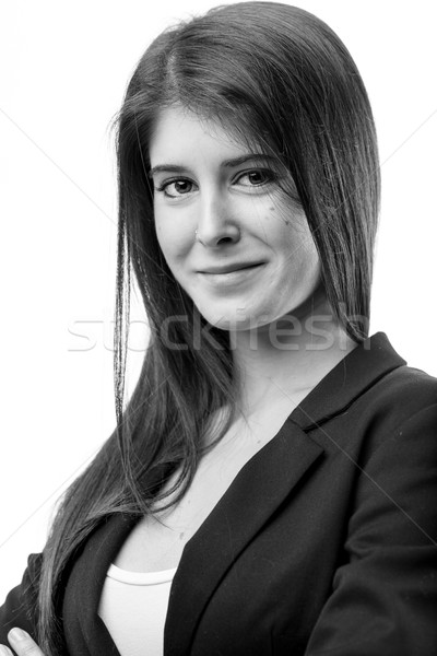 welcoming black and white woman portrait Stock photo © Giulio_Fornasar