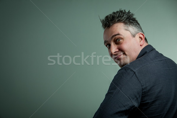 big eyes of a man looking insane Stock photo © Giulio_Fornasar