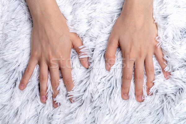 sweet lovely furry blanket under my skin Stock photo © Giulio_Fornasar