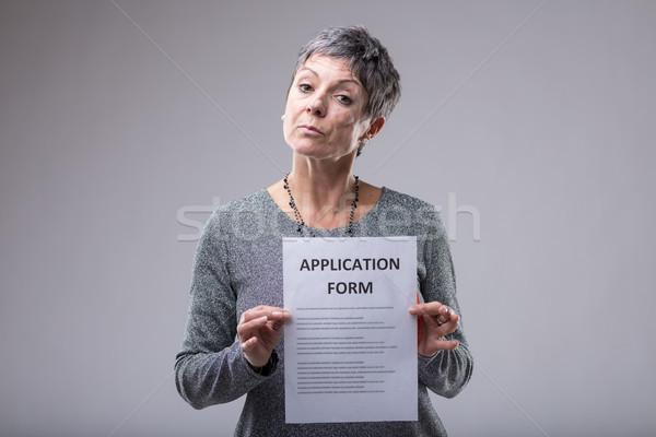 Bekleyen kadın uygulama form Stok fotoğraf © Giulio_Fornasar