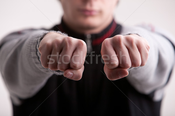 guess in which of these two fists is it? Stock photo © Giulio_Fornasar