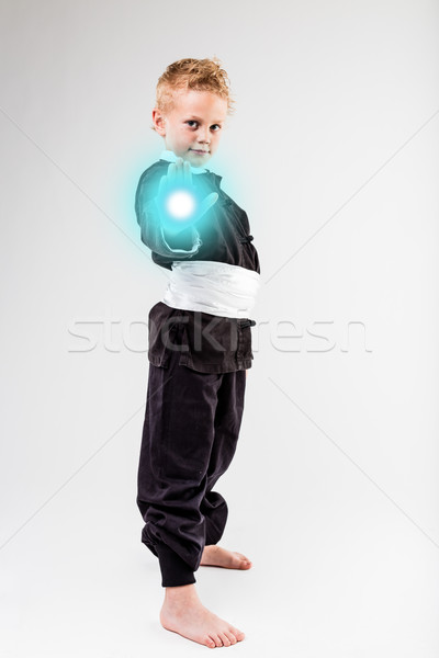 little kid shooting his laser beam Stock photo © Giulio_Fornasar