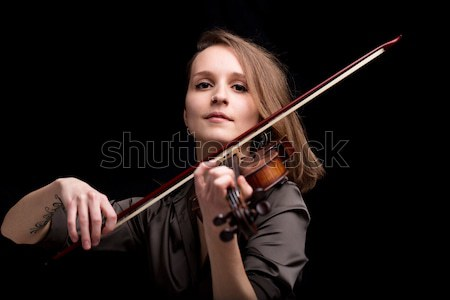 proud baroque violinist playing folk music Stock photo © Giulio_Fornasar