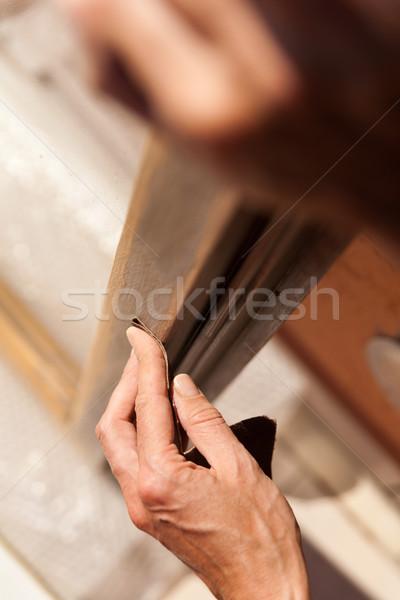 Mão mulher luminárias mãos trabalhar Foto stock © Giulio_Fornasar