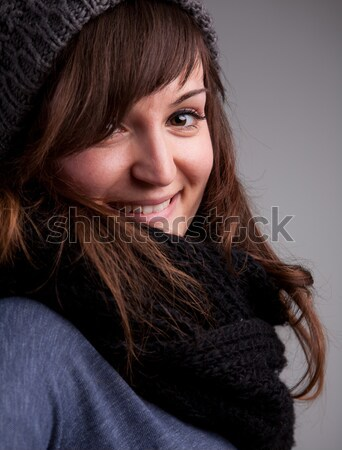 pretty girl in winter clothes Stock photo © Giulio_Fornasar