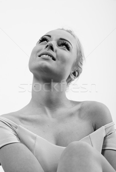 Style vintage portrait femme blonde Photo stock © Giulio_Fornasar