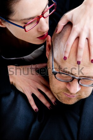 woman tormenting a business man Stock photo © Giulio_Fornasar