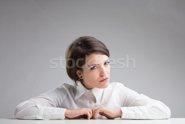 very suspicious woman spotting to find out Stock photo © Giulio_Fornasar