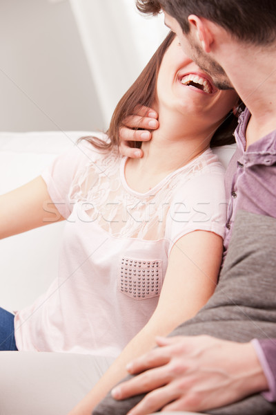 almost kissing between woman and man Stock photo © Giulio_Fornasar