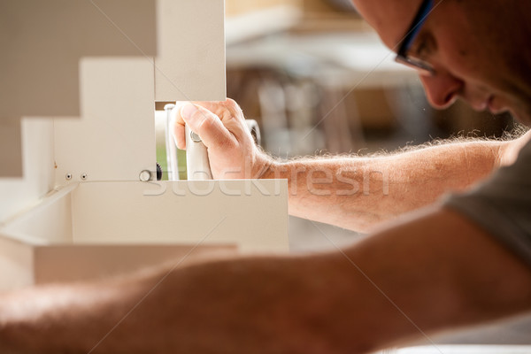 woodworker focused on his job Stock photo © Giulio_Fornasar