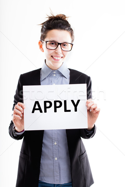let's apply and fill in that form! Stock photo © Giulio_Fornasar