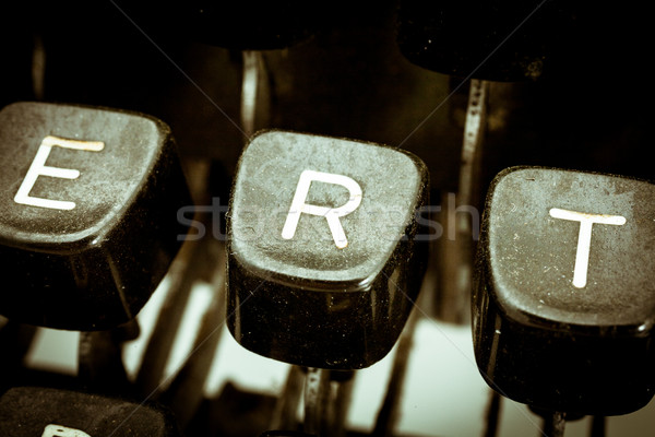 R letter on a vintage typewriter keyboard Stock photo © Giulio_Fornasar