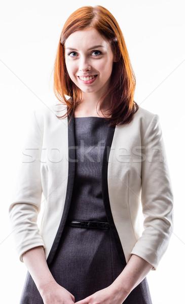 Jeune femme élégante élégant robe Photo stock © Giulio_Fornasar