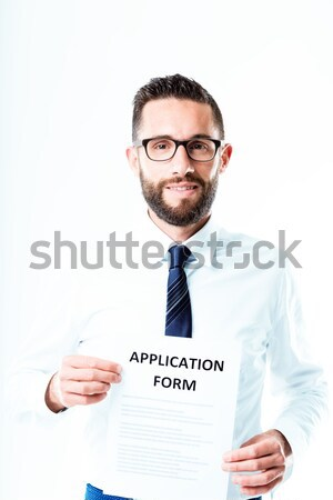 office worker illustrating a checklist Stock photo © Giulio_Fornasar