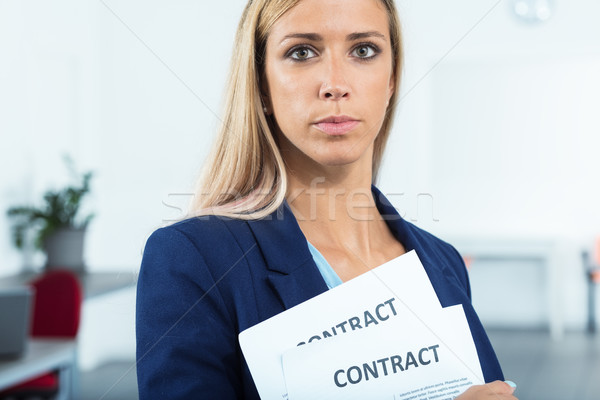 she managed to manage contracts Stock photo © Giulio_Fornasar