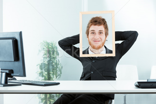 funny concept of a weird office worker Stock photo © Giulio_Fornasar