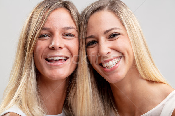 Two pretty happy young blond women Stock photo © Giulio_Fornasar