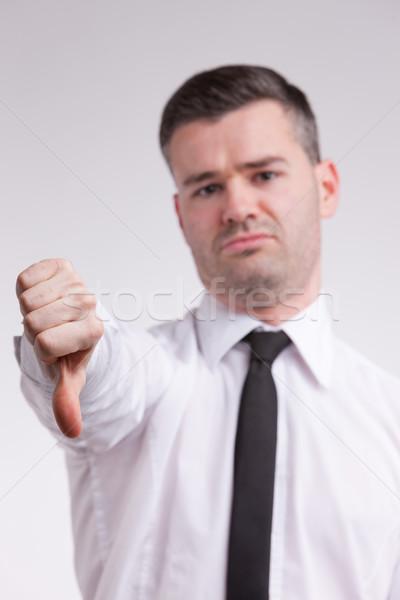 man thumbs down Stock photo © Giulio_Fornasar