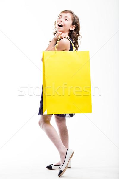 Moda vítima menina compras pequeno compra Foto stock © Giulio_Fornasar