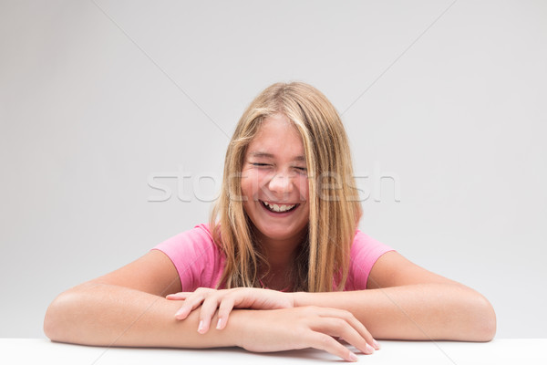 laughter explosion little girl portrait Stock photo © Giulio_Fornasar
