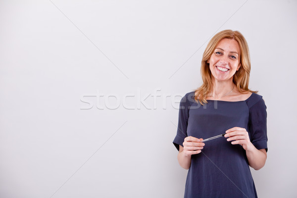 real woman teaching or explaining Stock photo © Giulio_Fornasar