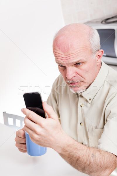 зрелый человек зрение чтение здоровья Сток-фото © Giulio_Fornasar