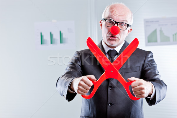 liar says you have to cut expenses once more Stock photo © Giulio_Fornasar
