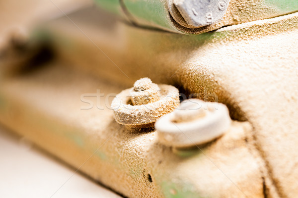 dust covered woodworker machinery bolt Stock photo © Giulio_Fornasar