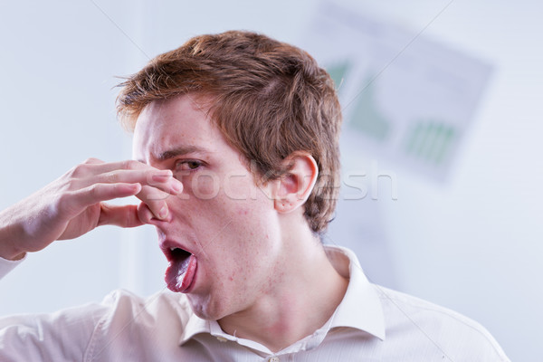 office worker expresses his total disappointment Stock photo © Giulio_Fornasar