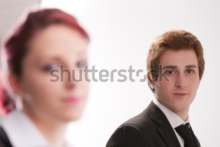 man VS woman annoyances on workplace Stock photo © Giulio_Fornasar