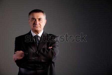 Idős férfi elkötelezettség nagyszerű siker töprengő hozzáállás Stock fotó © Giulio_Fornasar