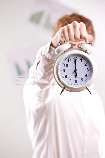 Stockfoto: Haast · omhoog · geen · meer · tijd · Rood