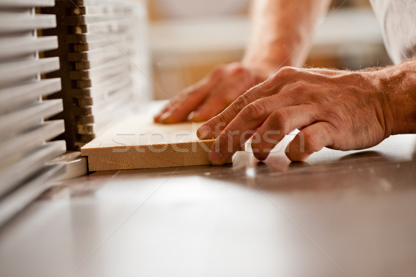 hand working with a wood shaper Stock photo © Giulio_Fornasar