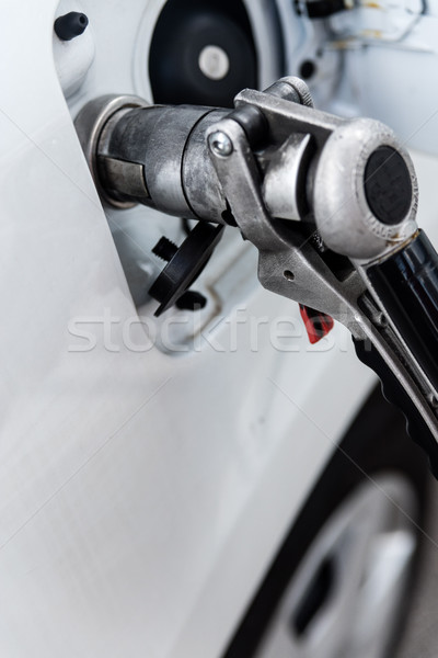fuel-tank fill up of liquid petrol gas at gas station Stock photo © Giulio_Fornasar