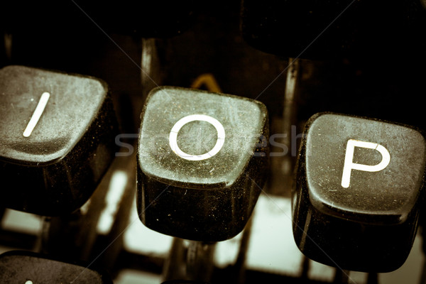 O letter on a vintage typewriter keyboard Stock photo © Giulio_Fornasar