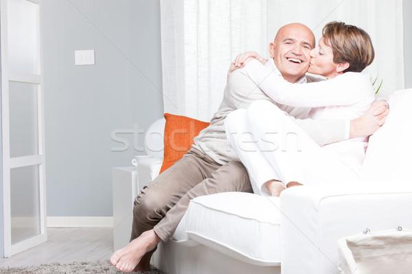 Risonho homem bochecha atraente amoroso Foto stock © Giulio_Fornasar
