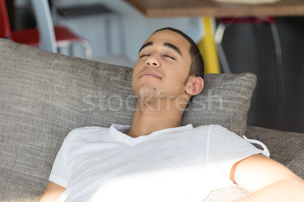 Man sleeping on sofa Stock photo © Giulio_Fornasar