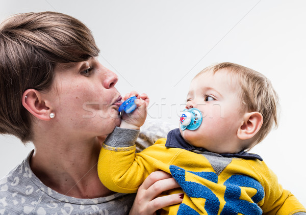 who's this pacifier is mine or yours Stock photo © Giulio_Fornasar