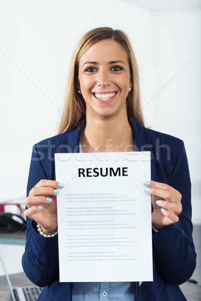 good starting point is a good resume Stock photo © Giulio_Fornasar