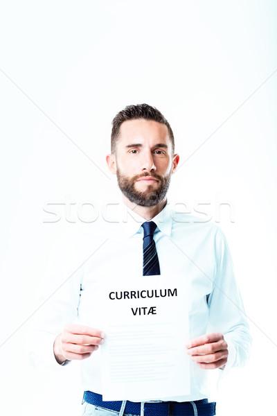 bearded businessman with a CV Stock photo © Giulio_Fornasar