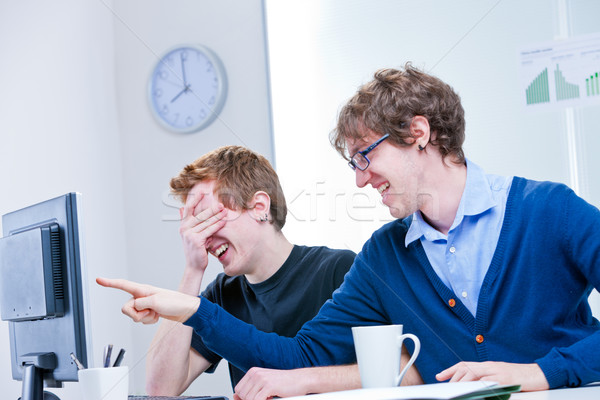 what a ridicule thing it's happening on the screen? Stock photo © Giulio_Fornasar