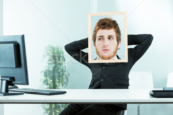 funny concept of a suspicious office worker Stock photo © Giulio_Fornasar