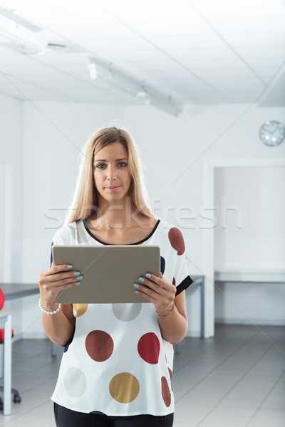 real woman in a realistic office Stock photo © Giulio_Fornasar