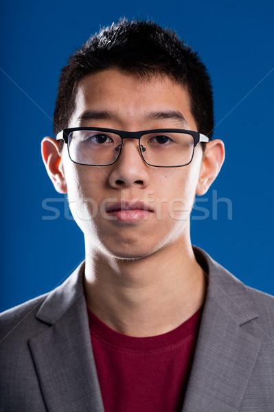ázsiai leszármazás férfi szemüveg portré üzletember Stock fotó © Giulio_Fornasar