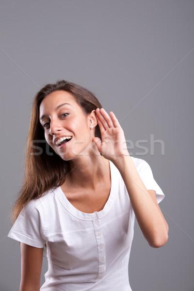 Talk to me: I'm listening Stock photo © Giulio_Fornasar