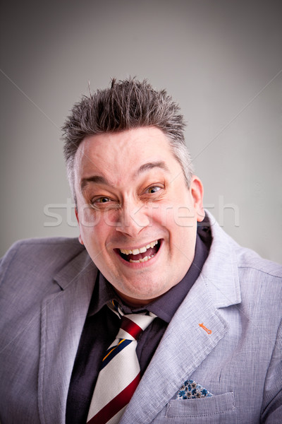 crazy businessman boss laughs Stock photo © Giulio_Fornasar