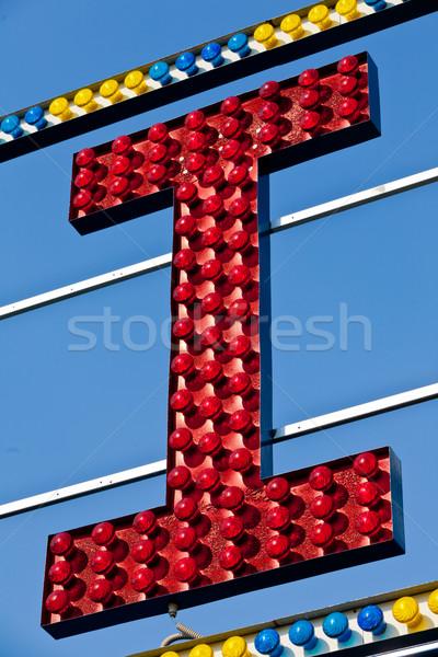 I capital letter circus neon sign Stock photo © Giulio_Fornasar