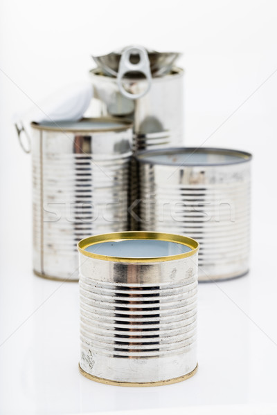 Estanho lata doente útil grupo Foto stock © Giulio_Fornasar