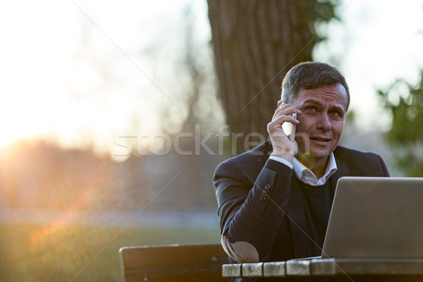 senior professional working 24h on a pleasant workplace Stock photo © Giulio_Fornasar